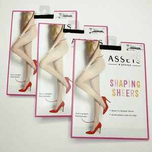 Assets by Spanx Shaping Sheers Black Lot of 3